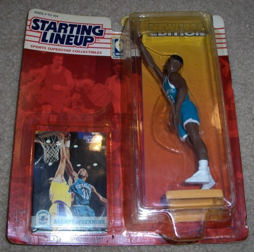 Alonzo Mourning - 1994 - Starting Lineup - Charlotte Hornets - Limited Edition - Mint - Collectible by Starting Line Up Kenner Line