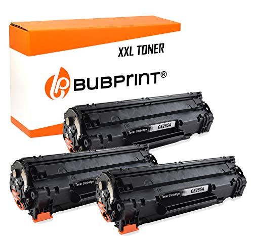 Bubprint 3 Toner kompatibel für HP CE285A 85A CE285X für Laserjet Pro M1100 M1132 M1136 M1200 M1212NF M1217NFW MFP P1102W P1108 P1109W Schwarz 2.100 S
