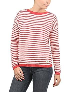 Desires Hilde Jersey De Punto Suéter Sudadera De Punto Grueso para Mujer con Escote Barco De 100% algodón