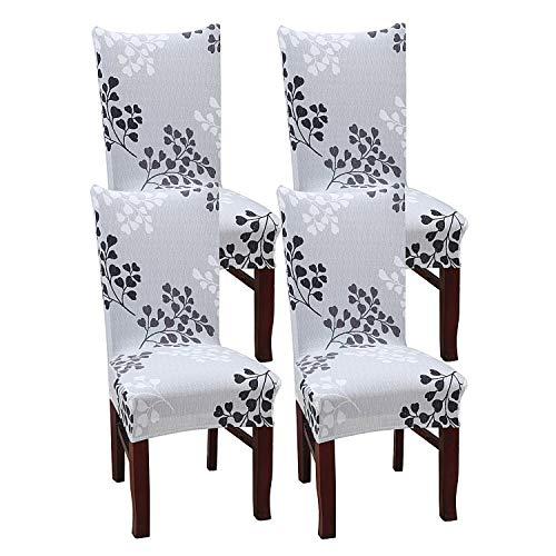 simpletome Stuhlhusse Stretch Stretchhusse Stuhl Entfernbar Waschbar Mehrfarbig 4 Packungen (Herbst) - 4 Parson Stühle