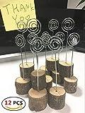 12pezzi in legno supporti di carta nota clip matrimonio tavolo di supporto, per foto, memo, biglietti clip di Mfcreative (legno)