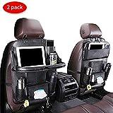 Auto Organizer Auto Rückenlehnenschutz mit klappbarem Tisch PU Leder Auto Rücksitz Für Kinder...