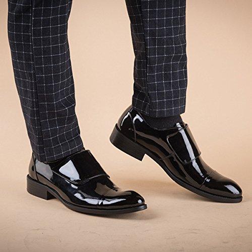 QVRGE Chaussures Homme Chaussures Printemps Et Automne Business Derby Chaussures Black