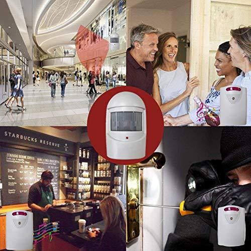 Eine für Zwei Infrarot Wireless Einfahrt Alarm, Kit Sicherheit LED Türklingel Sensor Lane DIY Türklingel Alarm Sprachaufforderung Diy Wireless-alarm-kit