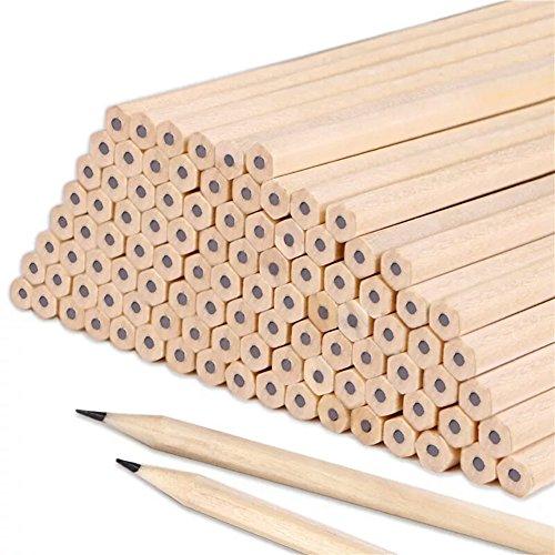 Lot 100crayons HB bois naturel pour enfants, étudiants