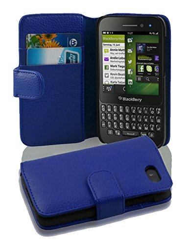Cadorabo Hülle für Blackberry Q5 - Hülle in KÖNIGS BLAU – Handyhülle mit Kartenfach aus struktriertem Kunstleder - Case Cover Schutzhülle Etui Tasche Book Klapp Style
