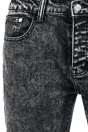 R.E.D. by EMP Nick Acid Wash (Skinny Fit) Pantalon gris Gris