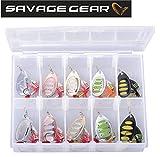 Savage Gear Rotex Spinner Set 6g / 8g - 10 Köder für Forellen, Barsch, Zander & Hecht,...