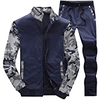 Geili Herren Herbst Trainingsanzug Sportanzug Männer Langarm Camouflage Patchwork Fleece Sweatshirt Mantel Jacke... preisvergleich bei billige-tabletten.eu