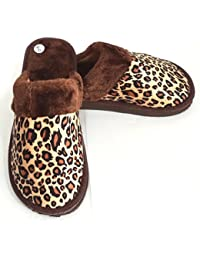 """Zapatillas para estar en casa. """"Leopardo, marrón"""". Ligeras, cómodas y calentitas. De la talla 36 a la 41."""