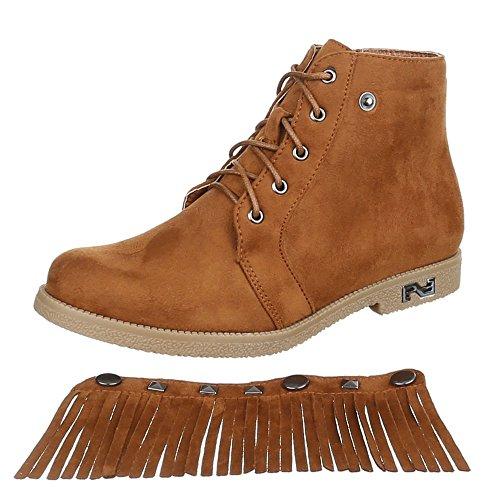 Ital-Design , Bottes et bottines cowboy femme Camel