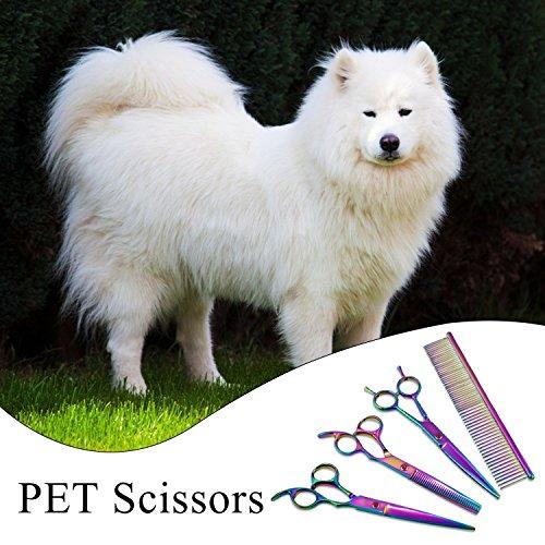 Aussel PET 7inch Professionelle PET Hund Pflege Schere schneiden Curved Effilierschere - 2