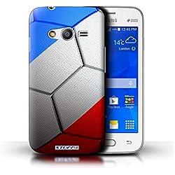 Stuff4 Coque de Coque pour Samsung Galaxy Trend 2 Lite/G318 / France/Français Design/Nations de Football Collection