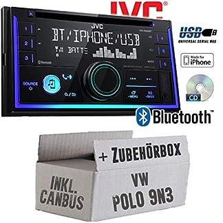 Autoradio-Radio-JVC-KW-R930BT-CD-Bluetooth-Android-Apple-MP3-USB-Einbauzubehr-Einbauset-fr-VW-Polo-9N3-2-JUST-SOUND-best-choice-for-caraudio