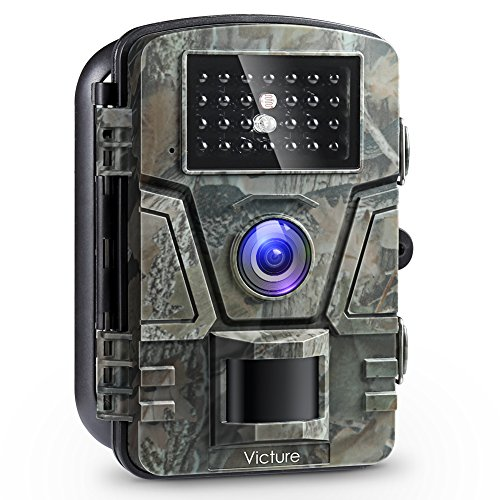 "Victure Wildlife Camera 1080P 12MP Trail Game Camera Motion Activated Night Vision with 2.4"" LCD Display IP66 Waterproof Design for Wildlife Hunting and Home Security"