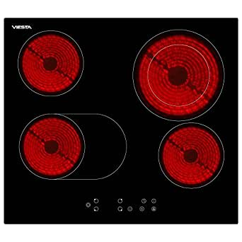 Viesta C4Z Plaque de cuisson vitroceramique, Table Vitrocéramique 4 feux