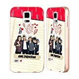 Head Case Designs Offizielle One Direction Sammelalbum R Made In The A.M. Gold Rahmen Hülle mit Bumper aus Aluminium für Samsung Galaxy S5 / S5 Neo