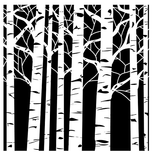 The Crafter's Workshop Aspen Trees Mini Template Test