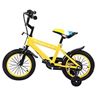 MuGuang 14 Inch Children Bike Child Bicycle Study Learning Riding Bike Boys Girls Bicycle with Training Wheels with Bell for 3-8 Years