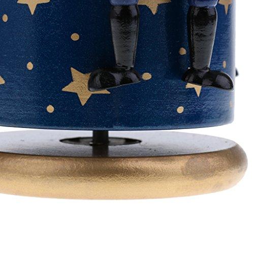 Homyl Weihnachten Nutcracker Soldaten Figuren Spieluhr Spieldose mit Uhrwerk Weihnachtsgeschenk - Blaue Basis