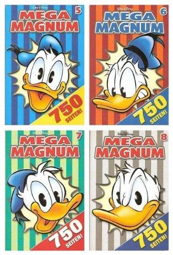 LTB Lustiges Taschenbuch - Mega Magnum - Band Nummern 5, 6, 7 & 8 - 4 Bände, über 3000 Seiten Lesespaß - Lustige Taschenbücher - Mega Magnum LTBs BD. Nr. 5 bis 8)