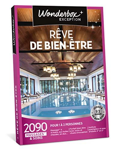 Wonderbox - Coffret cadeau femme Noel - RÊVE DE BIEN ÊTRE - 2090 soins: massages,...