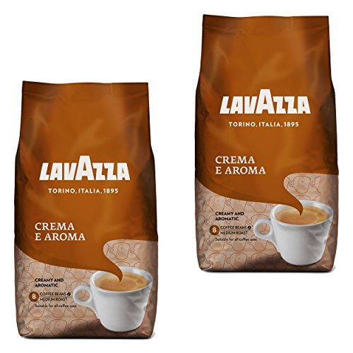 Lavazza Kaffee Bohnen Crema E Aroma, Bohnenkaffee, 2er Pack, 2 x 1000g