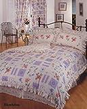 Single Bed Frilled Floral Duvet / Quilt Cover Blenheim Bedding Set