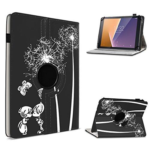 Vodafone Tab Prime 6 / 7 robuste Tablet Schutz Hülle aus hochwertigem Kunstleder Tasche mit Standfunktion 360° drehbar Universal Cover Case kombiniert Schutz und Design, Farben:Motiv 8