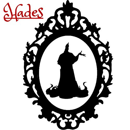 Disney Villain Schurke Silhouette Halloween Gothic Sticker Aufkleber Hades Wall Window Home Haunted Haus Vinyl Abziehbild Decal