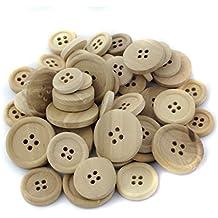 50Colorful búho Forma DIY Madera Botones para Coser y