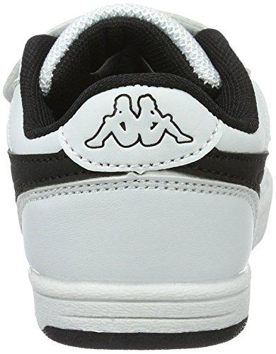 Kappa Trooper Light Sun, Sneakers Basses Mixte Enfant Blanc (White/black)