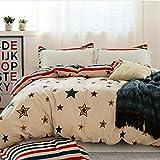 DD RFWEQ ETYU Modernen Minimalistischen Stil Blumen/Blumen Farbe 100% Baumwolle Bettbezug - B220*240 cm (87 x 94 Zoll)