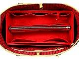 [Passt Neverfull GM/Speedy 40, Rot] Geldbörse einfügen (3 mm Filz, abnehmbare Tasche w/Metall Zip), fühlte Tasche Organizer