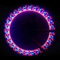 MaMaison007 32 ruote di doppia valvola luce LED bicicletta modello a forma di lampada