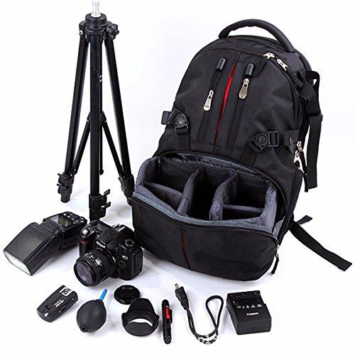 Nylon Waterproof Shockproof Camera Laptop Bag Lens Case Backpack For