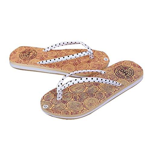 Sandali donna,Amlaiworld Donne ragazze estate vacanza sandali flat beach infradito scarpe Bianco