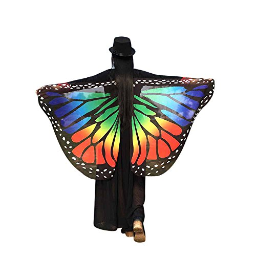 TIFIY Halloween Damen Schmetterlingsflügel Schal Fee Cosplay Kostüm Strand Nymph Pixie Kostüm Zubehör Party Pixie Vertuschen - Park Ranger Kostüm Kinder