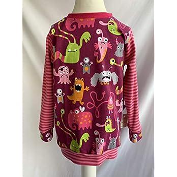 Pullover Monster auf pink 98/104