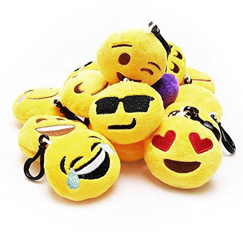 Okaytec-Set-Ben-30-pezzi-Portachiavi-Emoji-Faccine-Portachiavi-Emoticon-Pi-Usate-su-Whatsapp-Morbidi-e-Carini-Ideale-come-Decorazione-per-Personalizzare-Zaino-Borsa-Borsoni-da-Palestra-ect-Perfetto-Re