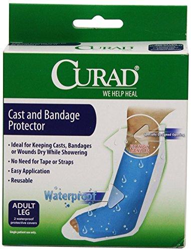 Curad Pflaster Erwachsene Displayschutzfolie für Badewanne und Dusche, erhältlich in Erwachsenen-Bein oder Arm, Adult Leg, blau, 1
