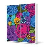 Aufkleber Möbel für IKEA Pax Schrank 236 cm Höhe - Schiebetür | Möbel-Folie Klebefolie Sticker Tapete Möbel umgestalten | Schöner Wohnen Jugendzimmer Dekoartikel | Muster Ornament Colorful Flowers