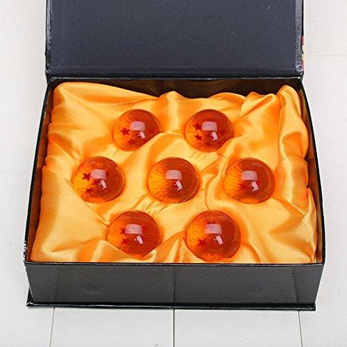 Geschenkbox Front - 7 Dragonballs kaufen - Dragonballs kaufen für Cosplay Kostüm - Manga Anime Set Son-Goku - Vegeta - Shenlong Kugeln kaufen