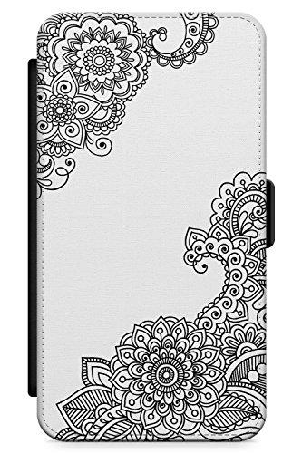 Case Warehouse iPhone 4 / 4s Schwarzes Henna Schutz Gummi Handyhülle TPU Bumper Spitze Tatoo Mandala Mehndi Blumen