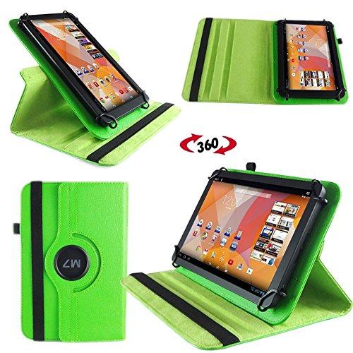NAUC Tasche Hülle für Blaupunkt Endeavour 101M 101L Tablet Schutzhülle Case Tab Cover, Farben:Grün