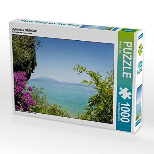 Preisvergleich Produktbild Idyllisches SIRMIONE 1000 Teile Puzzle quer: Wunderschöne Sicht auf den Gardasee (CALVENDO Orte)