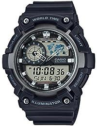 Casio Youth-Combination Analog-Digital Black Dial Men's Watch - AEQ-200W-1AVDF (AD210)