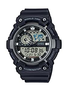 443e04b03 ... Casio Youth-Combination Analog-Digital Black Dial Men's Watch -  AEQ-200W-1AVDF