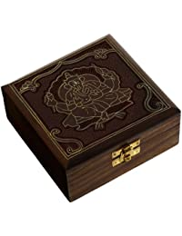 Wooden Jewellery Box with Lord Ganesha Handcarved Design Length: 12.70 Cm