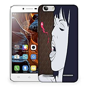 Snoogg Breathing Out Love Vector Designer Protective Phone Back Case Cover For Lenovo K5 Vibe